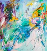 Blossoming rain No.2 by Wang Xiyao contemporary artwork painting, drawing