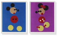 Mickey & Minnie (Large Glitter) by Damien Hirst contemporary artwork print