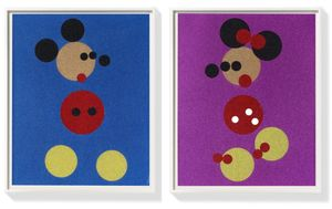 Mickey & Minnie (Large Glitter) by Damien Hirst contemporary artwork