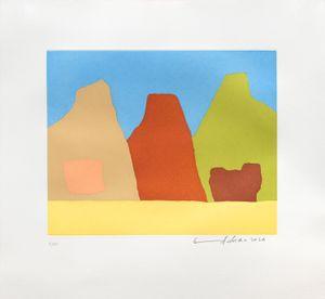 Montagnes by Etel Adnan contemporary artwork