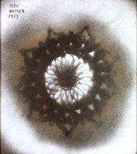 Silver Flower by Yayoi Kusama contemporary artwork painting