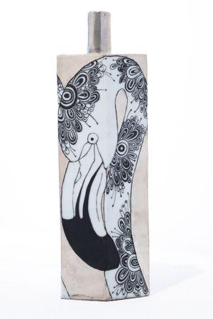 Vase_Flamingos by Masako Inoue contemporary artwork sculpture, ceramics