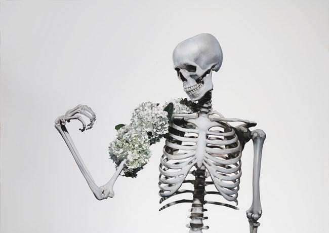 Skeleton flex by Michael Zavros contemporary artwork