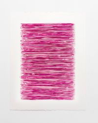 Color structure #10 (permanent red violet light) by Lars Christensen contemporary artwork works on paper