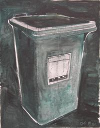 Dustbin 垃圾箱 by Zhang Enli contemporary artwork painting