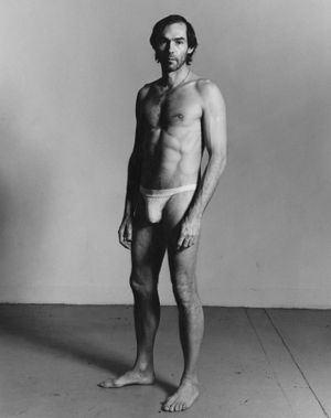 Self-Portrait Standing by Peter Hujar contemporary artwork photography, print