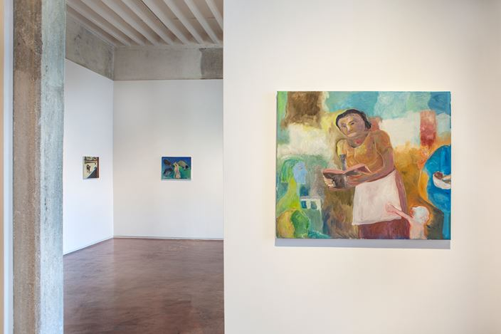 Exhibition view: Sosa Joseph and Matthew Krishanu, New Figurations, Jhaveri Contemporary, Mumbai (14 November–28 December 2019). Courtesy Jhaveri Contemporary.
