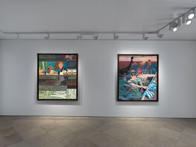 Exhibition view: Hernan Bas, Venetian Blind, Victoria Miro, Venice (8 February–14 March 2020). © Hernan Bas. Courtesy the artist and Victoria Miro, London/ Venice.