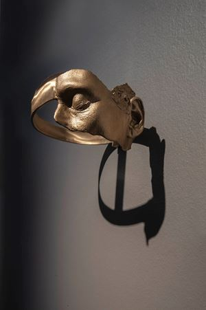 Turning a Blind Eye and Deaf Ear, Helmet by Julie Rrap contemporary artwork