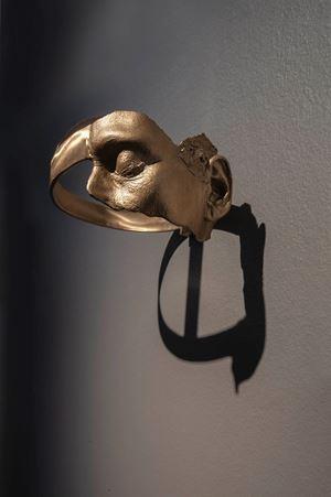 Turning a Blind Eye and Deaf Ear, Helmet by Julie Rrap contemporary artwork