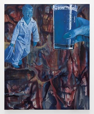 Blue Juice Ad by Jim Shaw contemporary artwork