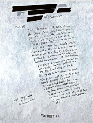 I am arrested by Jenny Holzer contemporary artwork