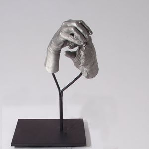 One Hand Making the Other Hand by Julie Rrap contemporary artwork
