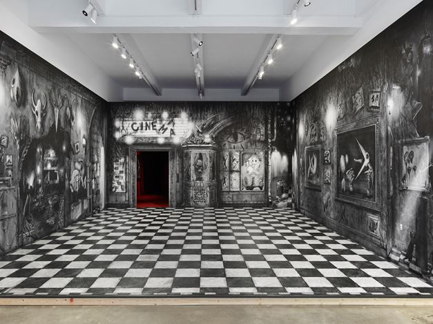 Exhibition view: Alexandre Singh, A Gentle Horror, Metro Pictures, New York (11 October–9 November 2019). Courtesy Metro Pictures.