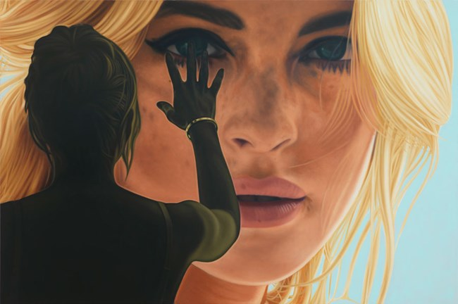 Lindsay III by Richard Phillips contemporary artwork