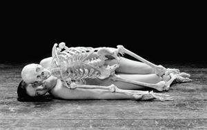 Self Portrait with Skeleton by Marina Abramović contemporary artwork