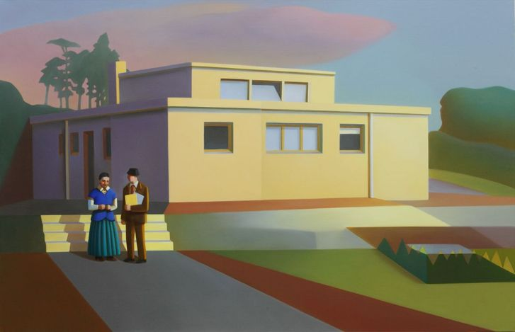 Chen Ke, No.1 Haus am Horn No.1 (2021). Oil on canvas. 130 x 200 cm. Courtesy the artist and Perrotin.