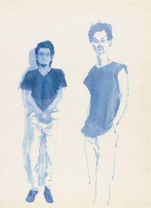 Hometown Boy Print Series #5 by Liu Xiaodong contemporary artwork