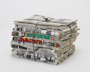 Newspaper P-18C by Kimiyo Mishima contemporary artwork