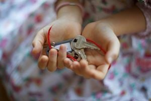 The Key in the Hand by Chiharu Shiota contemporary artwork photography