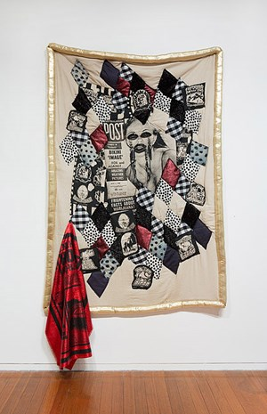 Come Over Me, In Me, With Me, On Me. (Bogan Quilt) by Sarah Contos contemporary artwork