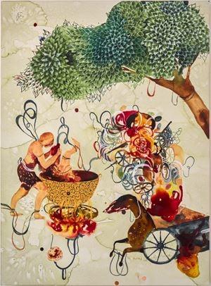 Carnage by Shiva Ahmadi contemporary artwork