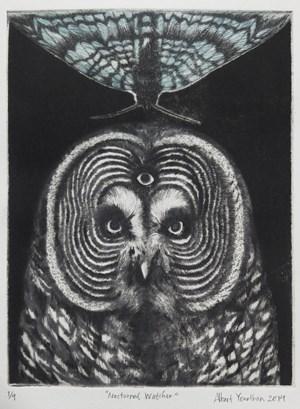 Nocturnal Watcher by Albert Yonathan Setyawan contemporary artwork