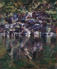 Reflection, Smiths Creek (Hawkesbury 18) by A.J. Taylor contemporary artwork painting
