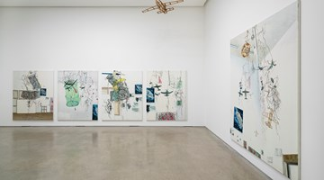 Contemporary art exhibition, Jiwon Kim, canvas fly at PKM Gallery, Seoul