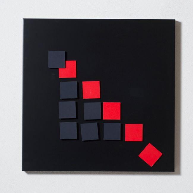 Tavola magnetica a elementi quadrati by Grazia Varisco contemporary artwork