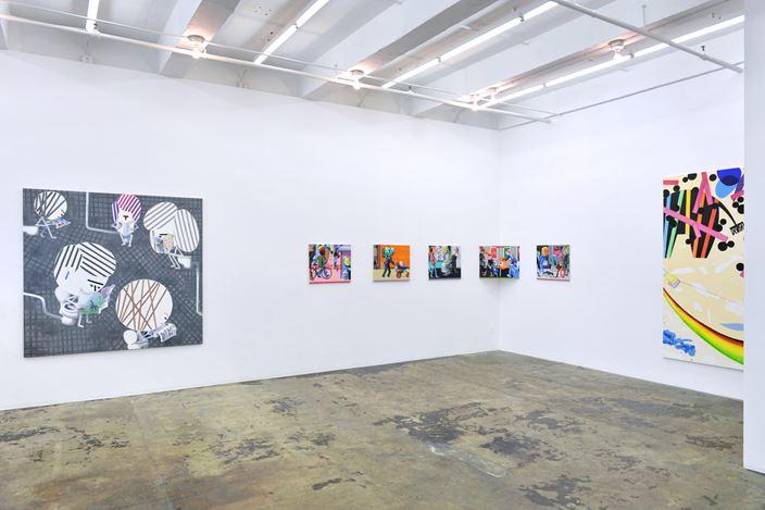 Exhibition view: Marcus Weber,Adalbertstraße, Krazy Kat und Artforum-Leser, Thomas Erben Gallery, New York (5 April–19 May 2018). Courtesy Thomas Erben Gallery.