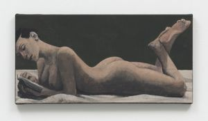 Reading Nude by Lenz Geerk contemporary artwork painting