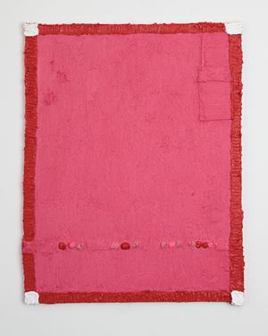 Untitled (red frame) by Louise Gresswell contemporary artwork
