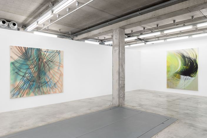 Exhibition view: Andrea Marie Breiling, I Think I Might've Inhaled You, Almine Rech, Brussels (11 March—10 April 2021). Courtesy the artist and Almine Rech. Photo: Hugard & Vanoverschelde.