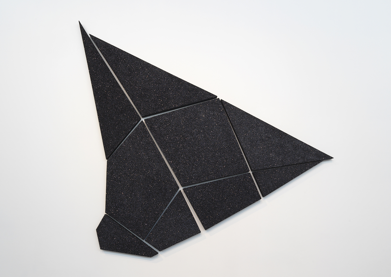 Jefferson Pinder, Black Portal, 2015. Ink, wood, glitter, 274 cm x 183 cm. Image courtesy the artist.