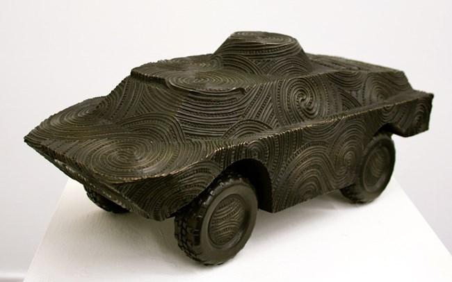 Mihaia maquette by Brett Graham contemporary artwork
