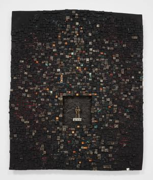 The Mingo Altarpiece: For George Mingo 14 September 1950 – 6 December 1996 by Jack Whitten contemporary artwork