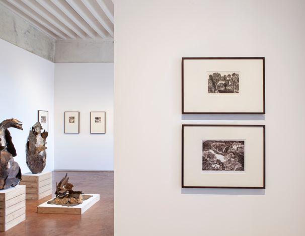 Exhibition view: Mrinalini Mukherjee, Bagh, Jhaveri Contemporary (29 February–28 March 2020). Courtesy Jhaveri Contemporary.