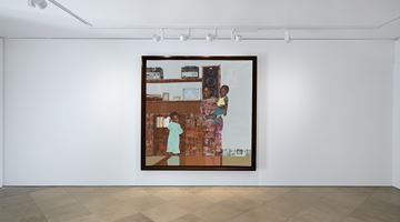 "Contemporary art exhibition, Njideka Akunyili Crosby, ""The Beautyful Ones"" at Victoria Miro, Venice"