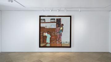 """Contemporary art exhibition, Njideka Akunyili Crosby, """"The Beautyful Ones"""" at Victoria Miro, Venice"""