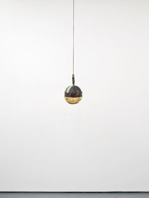 Flying fingers settle, and align over potholes to sound the notes of a silent home. by Kira Freije contemporary artwork