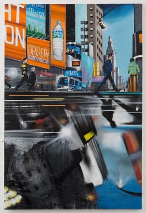 Rush Hour Reflection by Chris Daze Ellis contemporary artwork