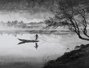 Boatman by Hans Op de Beeck contemporary artwork