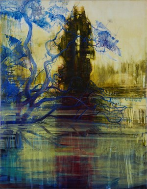 Cypress and Angophora by Adrienne Gaha contemporary artwork