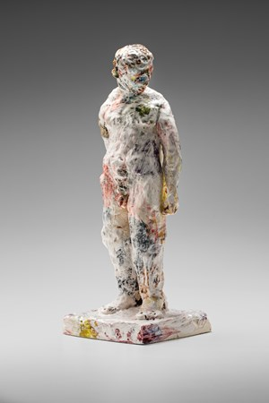 Statue (head turned) by Stephen Benwell contemporary artwork