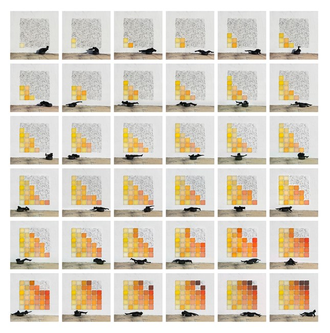 Under the Sun by Robin Rhode contemporary artwork
