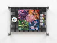 Crypto Futures Game of Life Board Overprint Collage: Twists & Turns by Simon Denny contemporary artwork sculpture