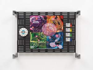 Crypto Futures Game of Life Board Overprint Collage: Twists & Turns by Simon Denny contemporary artwork