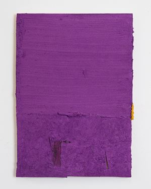 Untitled (yellow tab) by Louise Gresswell contemporary artwork