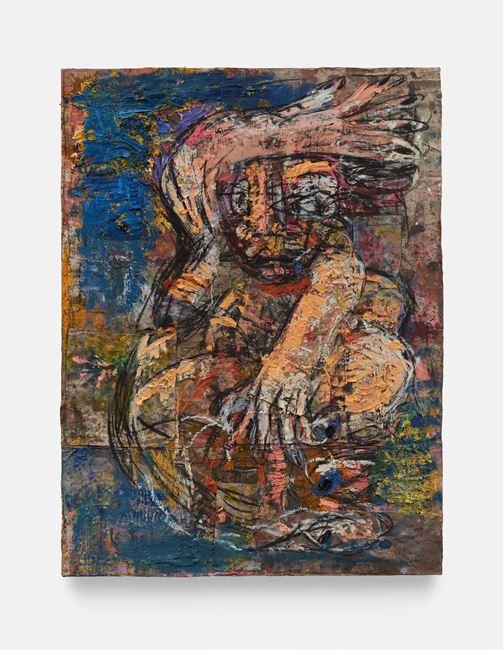 Belfie (double eye, blue) by Daniel Crews-Chubb contemporary artwork
